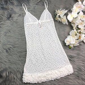 Victoria's Secret White Lace Chemise Slip Lingerie
